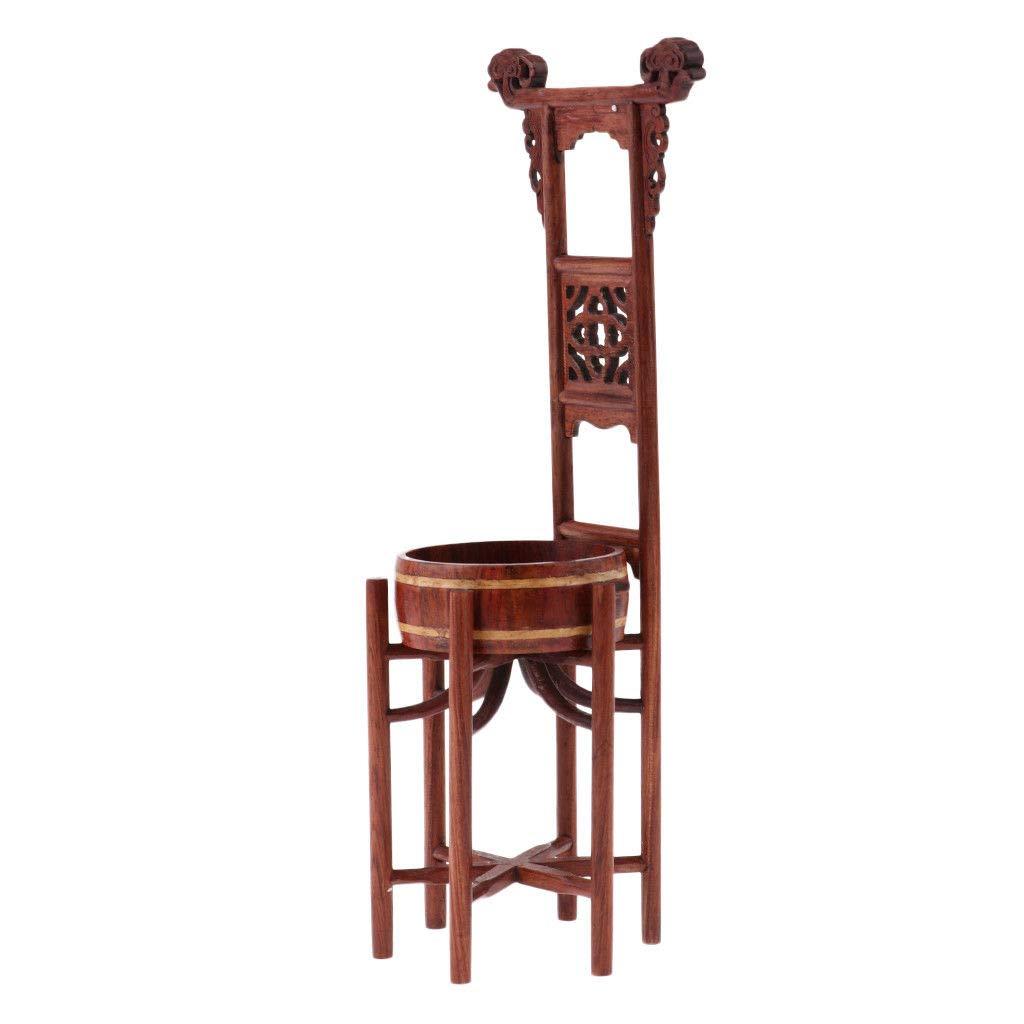 Vintage Dollhouse Bathroom Furniture Wooden Washbasin Washstand Model Decor