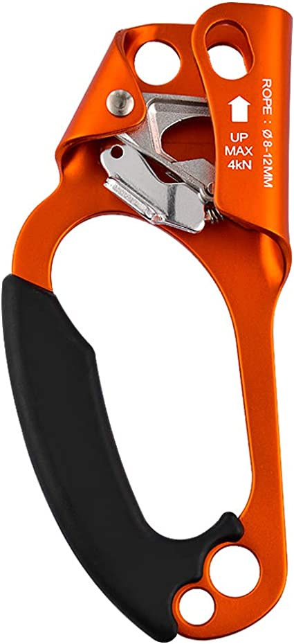 OUTDOOR LEFT HAND ASCENDER 8-12MM ROPE CLAMP FOR ROCK CLIMBING MOUNTAINEER