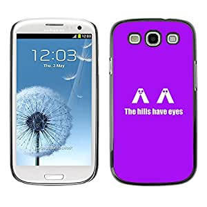 Samsung Galaxy S3 - Metal de aluminio y de plástico duro Caja del teléfono - Negro - The H1Lls Have Eyes - Funny