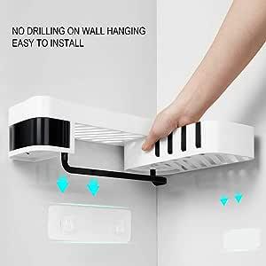 TiooDre almacenamiento de baño, ahorro de espacio, organizador de cocina de plástico, almacenamiento de esquina, estante de ducha: Amazon.es: Bricolaje y herramientas