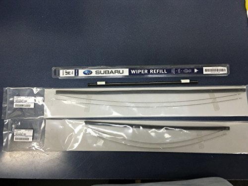 2009-2013 Subaru Forester Front Windshield Wiper Blade Refill & Rear full blade Set Genuine OEM ALL 3