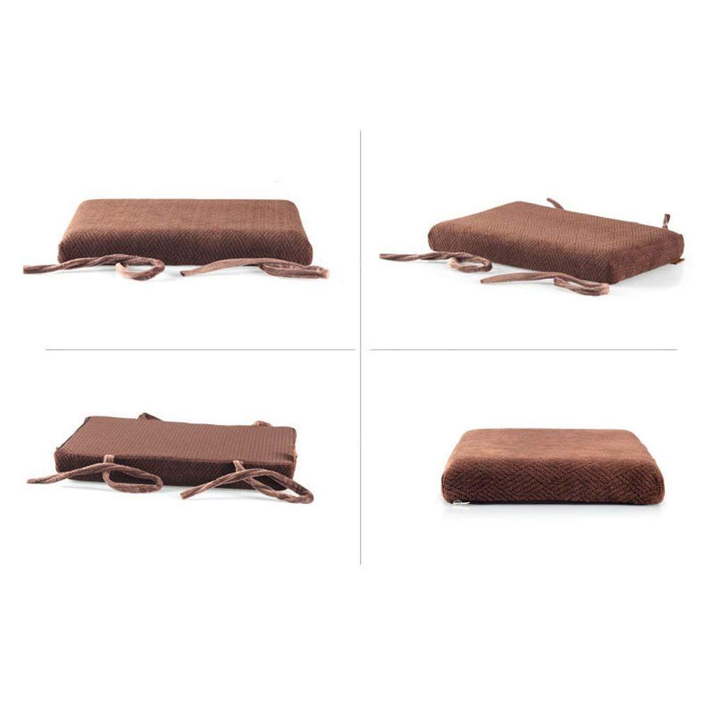 Colore: A Cuscino per Sedia dormitorio per Aula Cuscino per Sedia Sgabello Tappetino Antiscivolo Comodo e Traspirante FCXBQ Cuscino per Fasciatura Rettangolare in Cotone Memory