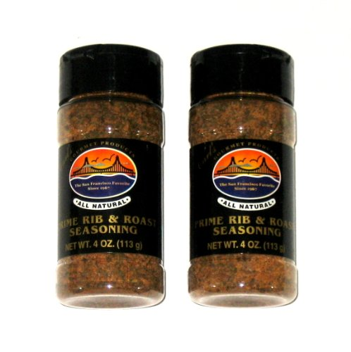 Carl's Gourmet All Natural Prime Rib & Roast Seasoning - 4 Oz (2-Pack) (Best Prime Rib Roast)