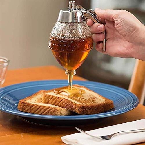 Elegant Crystal Honey Dispenser and Warmer Set