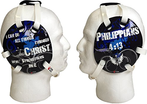 Philippians 4:13 Blue Wrestling Headgear by 4-Time All American
