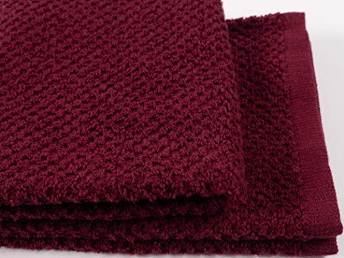 KAF Home Pantry Piedmont Kitchen Towels (Set of 8, 16x26 inches), 100% Cotton, Ultra Absorbent Terry Towels - Wine Red by KAF Home (Image #6)