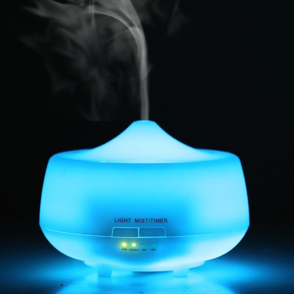 LUJII 250ml Ultrasonic Humidifier Aroma Diffuser, Essential Oil Diffuser, Aromatherapy Purifier, Air Purifier, 7 Color LED lights and Timer Settings, For Home, Yoga, Office, Spa, Bedroom, Baby Room by LUJII (Image #6)