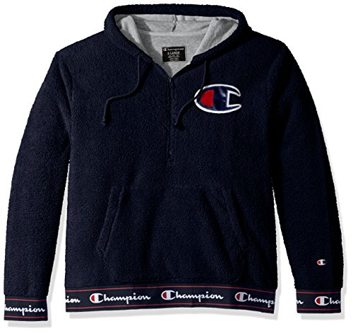 Champion LIFE Men's Sherpa Pullover Hoodie, Navy, Small