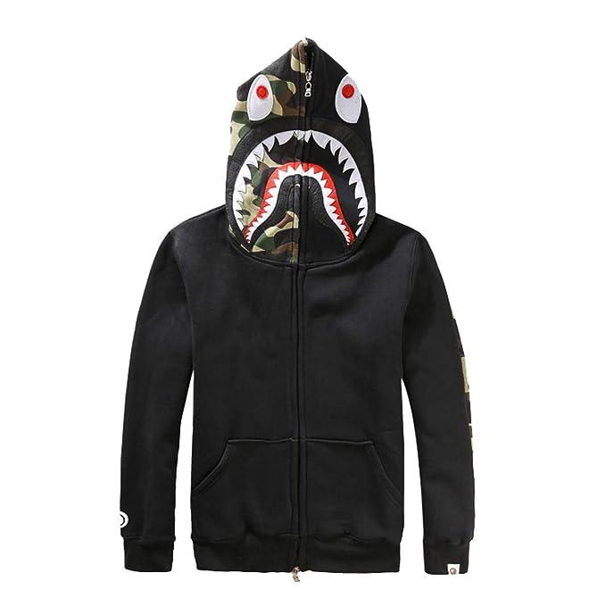 Bape A Bathing Ape Hooded Hoodie Shark Head Men/'s Jacket Loose Sweater Fashion
