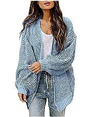 Briskorry Dames oversize gebreid vest vleermuismouwen open vorm cardigan herfst gebreide jas Hollow Out sweater jas