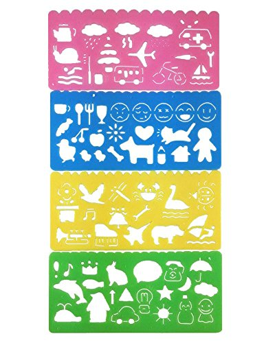 yueton Colorful Washable Painting Stencils