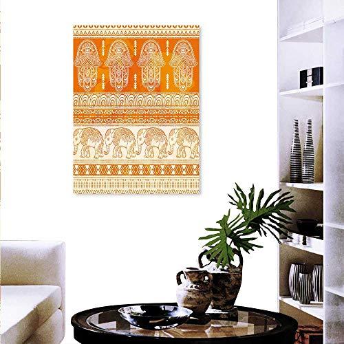 (Hamsa Fashion Stickers Wall Old Fashioned Traditional Borders Ornate Elephants Geometric Tribal Figures Stickers Wall Home 32
