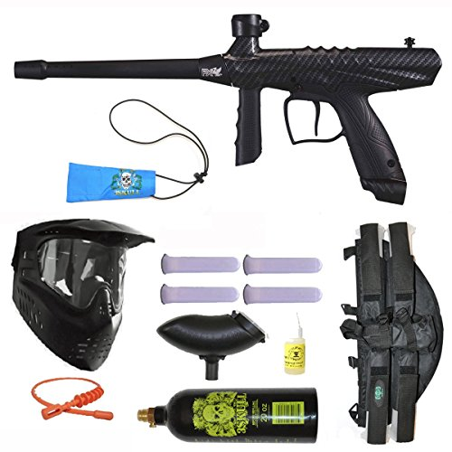 Tippmann Gryphon FX Paintball Marker Gun 3Skull 4+1 BC Mega Set - Carbon Fiber Tippmann Paintball Equipment
