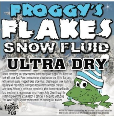 Extra Dry Thin - Froggy's Fog Ultra Dry Snow - 1 Case (4 Gallon) - NO ODOR - Snow Juice Machine Fluid - Froggys Flakes ULTRA (30-50 Foot Float / Drop)
