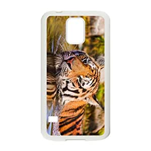 The Tiger Head Hight Quality Plastic Case for Samsung Galaxy S5
