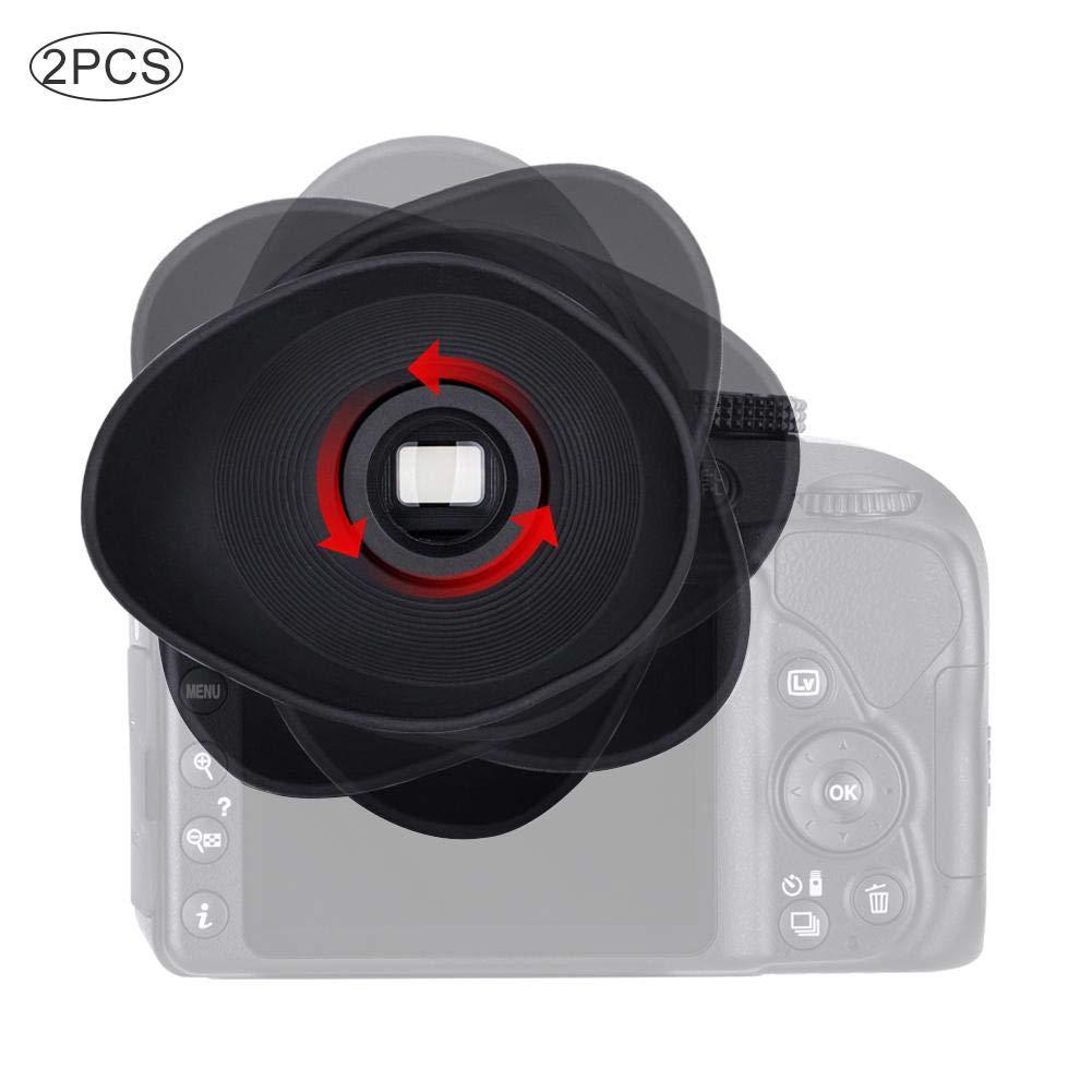 Visor de goma Blinder Visor con apertura de 18 mm para todos los visores para Canon 550D 300D 350D 400D 600D 500D 750D 760D 8000D C/ámaras