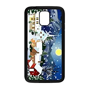 Perfect as Christmas gift-Merry Christmas Tree with lights case Hard Plastic PC Protective Cover case Accessories for Samsung Galaxy S5 Case-04