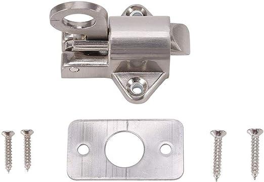 Perno de la puerta Seguridad de la puerta de la ventana Anillo de tracci/ón Resorte rebote Perno de la puerta Cerradura de aluminio