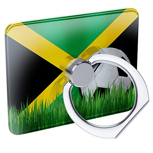 Cell Phone Ring Holder Soccer Team Flag Jamaica Collapsible Grip & Stand (Football Cell Phone Holder)