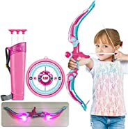 Archery Bow and Arrow Set,Bow & Arrow Play Set, Archery Set for Beginners with Target, Shooting Hunting Bo