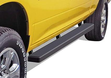 Nerf Bars Side Steps APS iBoard 5in Stainless Steel Black Running Boards Custom Fit 2010-2020 Ram 2500 3500 Mega Cab Pickup 4-Door