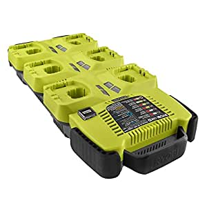 Ryobi ONE 18V Lithium Ion 6-Port Battery SuperCharger with IntelliPort Charging System P125 Charger