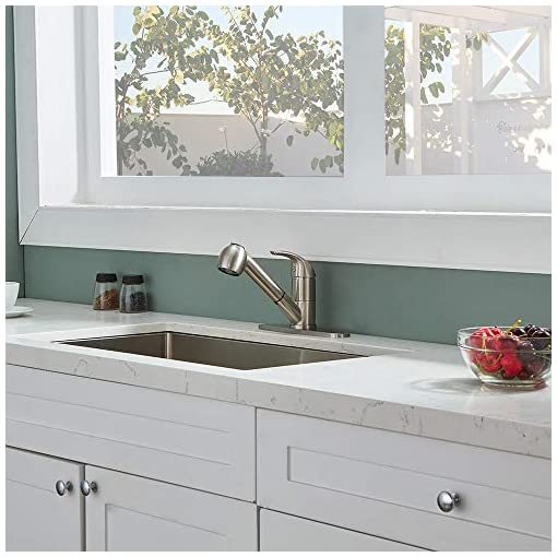 Kitchen KINGO HOME Modern Single Handle Stainless Steel Brushed Nickel Pull Out Sprayer Bar Kitchen Faucet, Kitchen Sink Faucet… modern sink faucets
