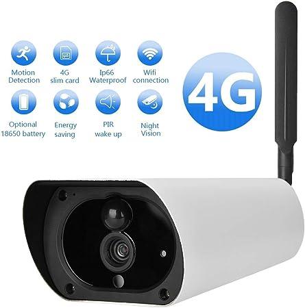 Amazon.com: Cámara de vigilancia HD con energía solar 4G ...