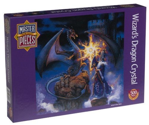 Wizard's Dragon Crystal: Master Pieces Round Puzzle