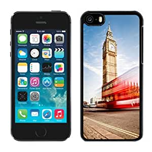 NEW Unique Custom Designed iPhone 5C Phone Case With London Big Ben Double Decker_Black Phone Case