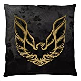 Pontiac Galvanized Firebird Throw Pillow White 26X26