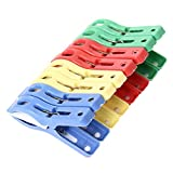 Changeshopping Set of 8 Beach Towel Clips in Fun Bright Prevents Towels Blowing Away