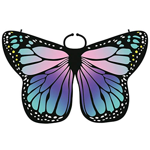 - Women Butterfly Wings Shawl Scarves Ladies Nymph Pixie Poncho Costume Accessory