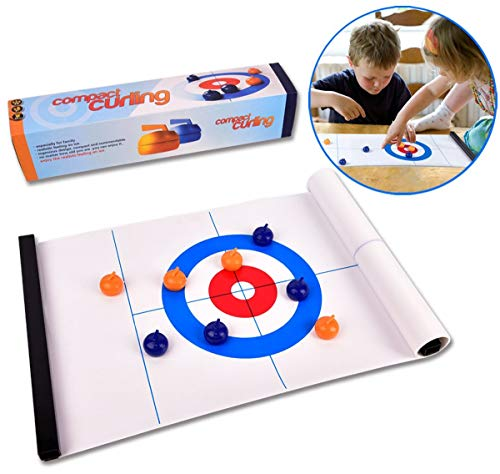 Check Out This ROPODA Tabletop Curling Game-Compact Curling Board Game, Mini Table Games for Family, School, Office or Travel Play