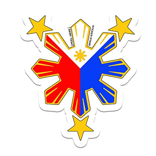 - Philippine Flag Sun Car Decal / Stickers