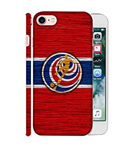 ColorKing Football Costa Rica 11 Red shell case cover for Apple iphone 7