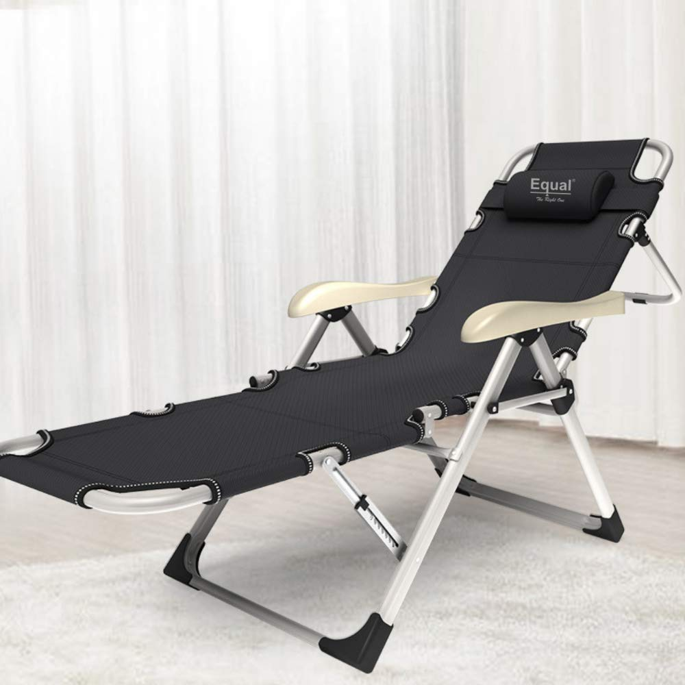 EQUAL Portable Adjustable Steel Recliner Chair/Bed For