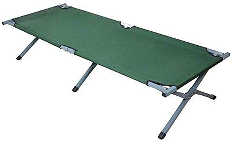 Black Timber Ridge Utility Folding XL Camping Cot Portable Deluxe Bed with Carry Bag