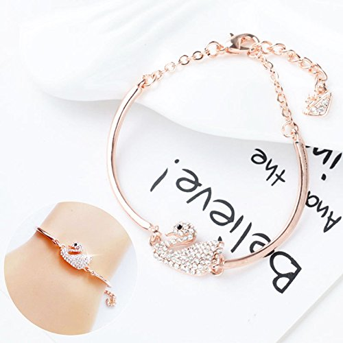 Korean summer woman with jewelry temperament classic simplicity swan diamond bracelet rose gold bracelet jewelry gift