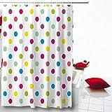 Pink and Purple Polka Dot Shower Curtain Ahawoso Shower Curtain 72