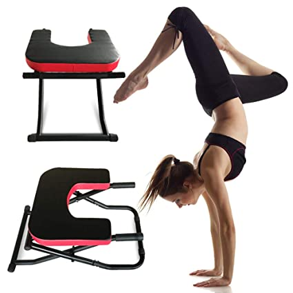 Semper Yoga Headstand Bench,Yoga Inversion Stand Stool Chair,Handstand Trainer,Shoulderstand, Handstand and Various Yoga Poses for Practice Head Stand ...