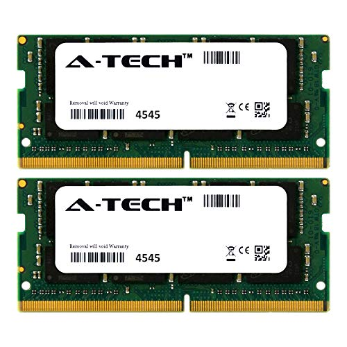 A-Tech 32GB Kit (2 x 16GB) 2133Mhz PC4-17000 260-Pin So-Dimm DDR4 1.2v Non ECC 2rx8 Laptop & Notebook Computer Memory Ram Modules (AT16G2D4S2133ND8N12V)