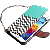 Galaxy S5 Case, ULAK Premium Synthetic Leather Wallet Case STAND Feature Magnet Flip Cover for Samsung Galaxy SV I9600 with Built-in Credit Card / ID Card Slots (Follow the sky)