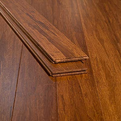 Ambient Bamboo - Bamboo Flooring Sample, Color: Carbonized, Solid Strand Tongue and Groove
