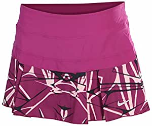 Nike Women's Printed Pleated Woven Tennis Skirt-Rose Purple-XL