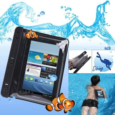 For cellphone Cases, WP-120 Black Waterproof Bag with Armband for 7.0~7.7 inch Tablet PC, Water-proof Depth: 10M (IPX8)