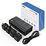 Voltage Converter 220V to 110V with 4 USB Ports [5V/2.1A Each] THZY International Travel Adapter with 3 AC Outlets and UK/AU/US/EU/Italy Worldwide Plug Adapter. (Note: 200W Max, Not for Flat Iron)