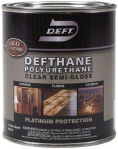 Deft Defthane Interior Exterior Clear Polyurethane Semi Gloss Quart Household Varnishes