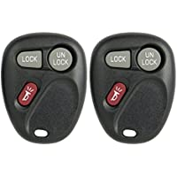 Keyless2Go Keyless Entry Car Key Replacement for Vehicles That Use 3 Button 15732803 KOBUT1BT - 2 Pack