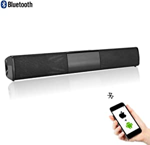 Wireless Sound Bar for TV, Bluetooth Surround Speaker Noise Cancelling Heavy Bass Home Theater Soundbar Support TF Card Function